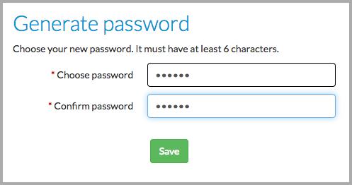 Choose password