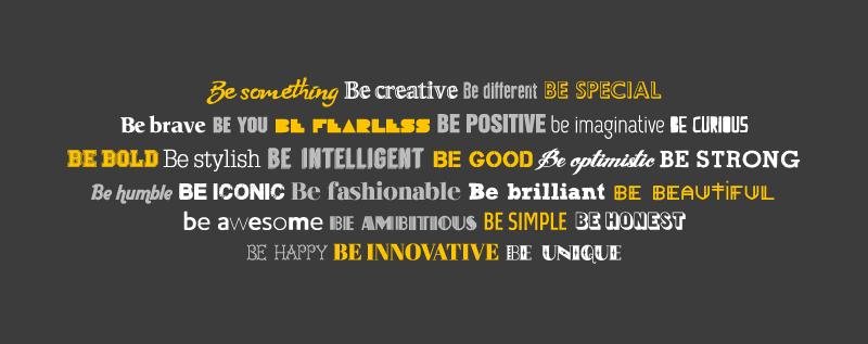 typography words print
