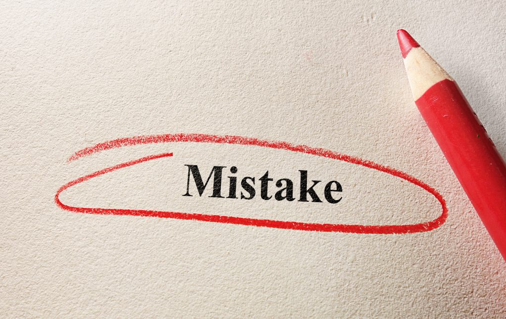 Proofreading mistakes