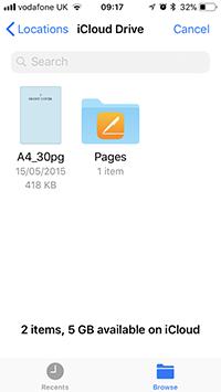 iCloud files